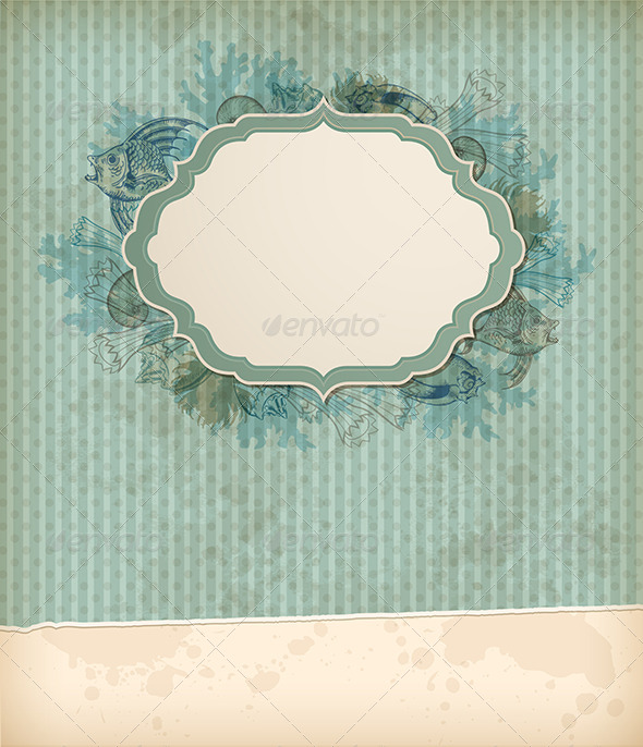 GraphicRiver Vintage Marine Background 8317906