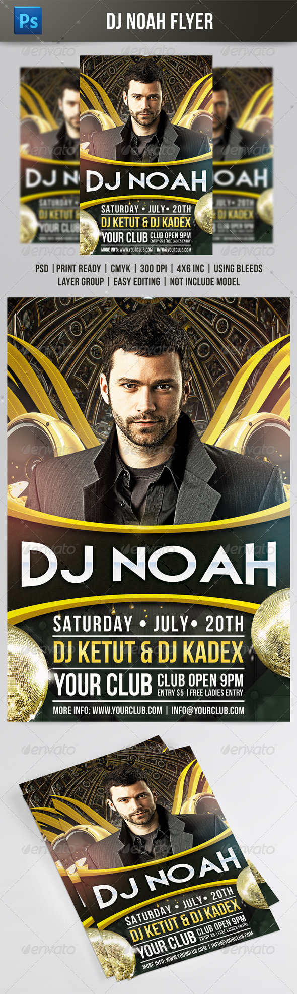 DJ Noah Flyer Template