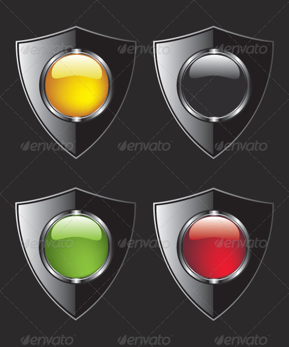GraphicRiver Shield with Different Color Buttons 8318126