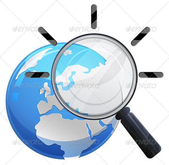 GraphicRiver Search the Globe Illustration 8318208
