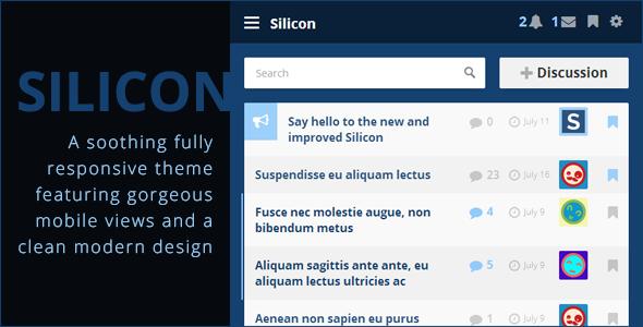 Silicon - Premium Vanilla 2 Theme