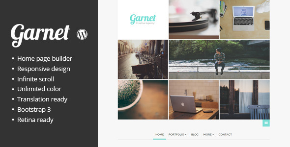 ThemeForest Garnet Creative Portfolio WordPress Theme 7428185