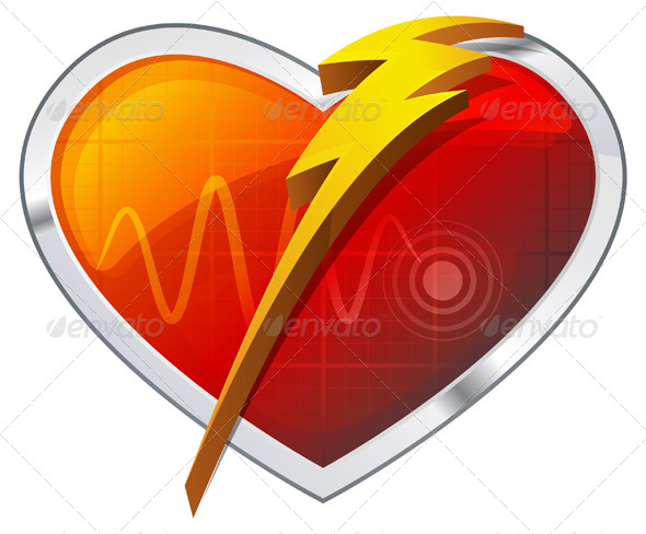 GraphicRiver Heart Defibrillator Illustration 8318344