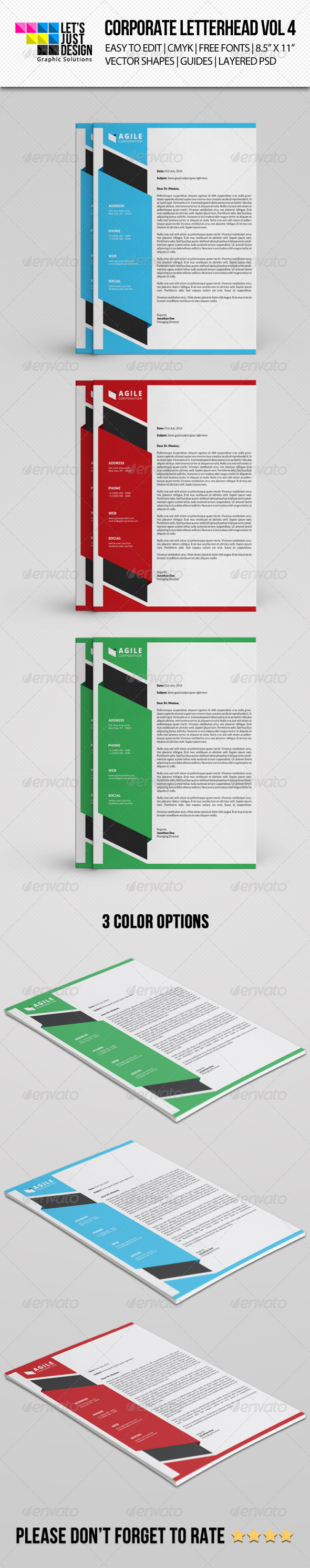 GraphicRiver Corporate Letterhead Vol 4 8318365