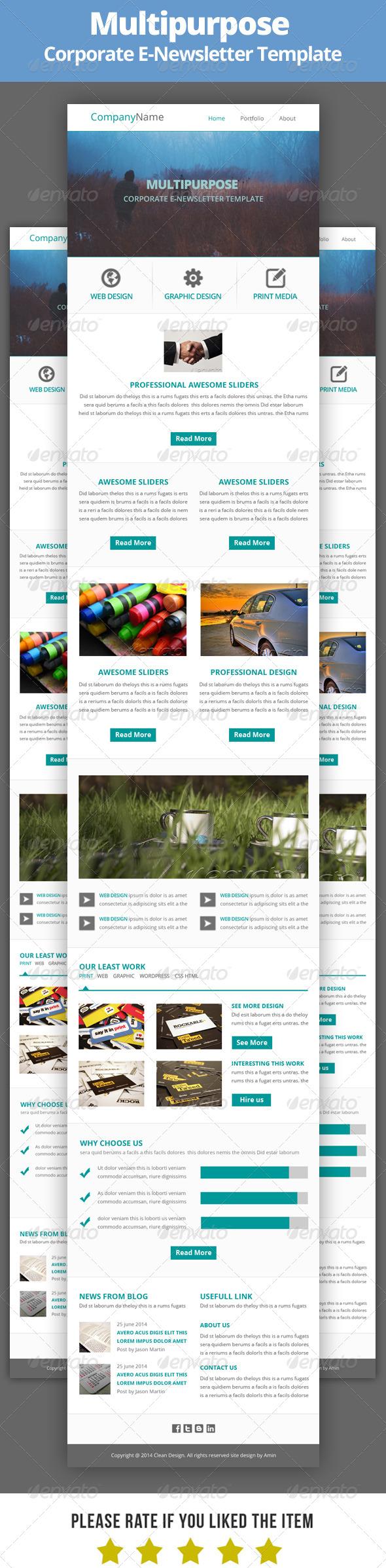 GraphicRiver Multipurpose E-Newsletter Template V10 8318370