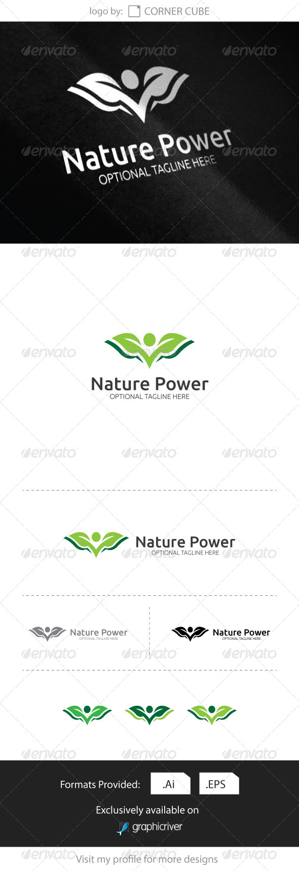 GraphicRiver Nature Power Logo 8318438