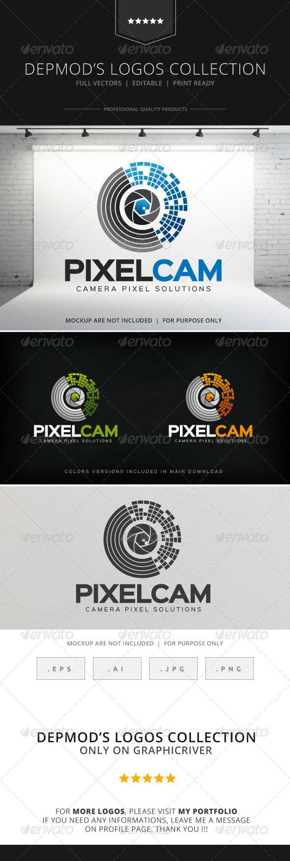 GraphicRiver Pixel Cam Logo 8318593