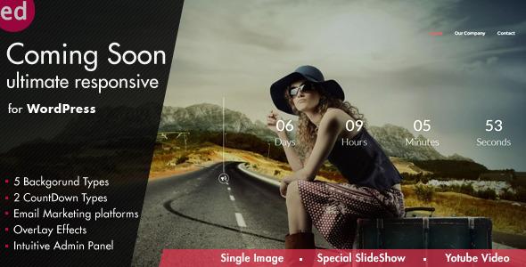 CodeCanyon Coming Soon CountDown Responsive Wordpress Plugin 8318790