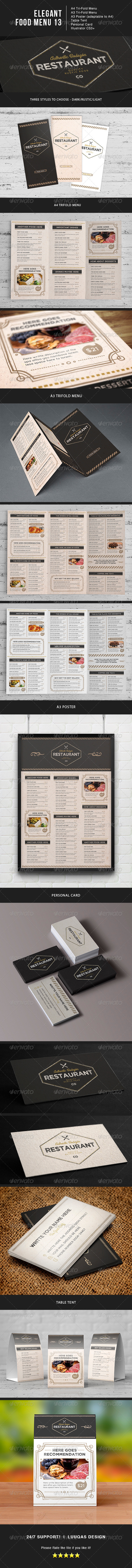 GraphicRiver Elegant Food Menu 13 8318953