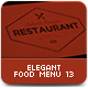 Elegant Food Menu 13 - GraphicRiver Item for Sale