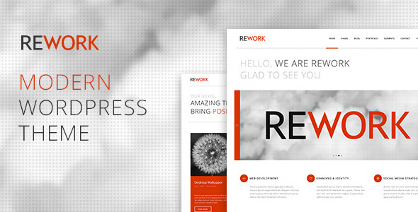 ThemeForest Rework Modern WordPress Theme 8318994