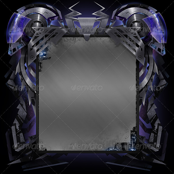 GraphicRiver Futuristic robotic backgound 8319011