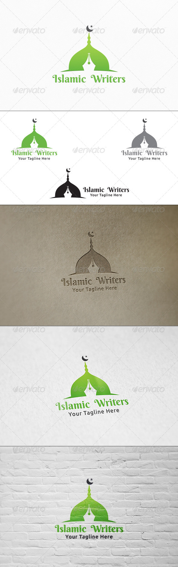 GraphicRiver Islamic Writers Logo Template 8319013