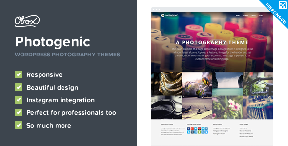 Photogenic - WordPress Photography Theme - Photography Creative