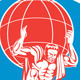 Atlas Carrying Globe on Front Shield - GraphicRiver Item for Sale