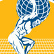 Atlas Carrying Globe on Shield  - GraphicRiver Item for Sale