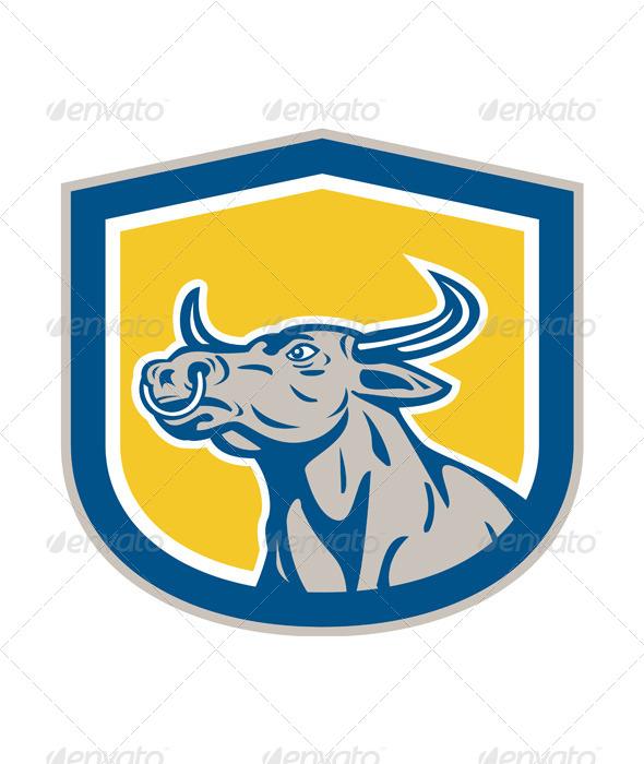GraphicRiver Bull Head Shield 8319073