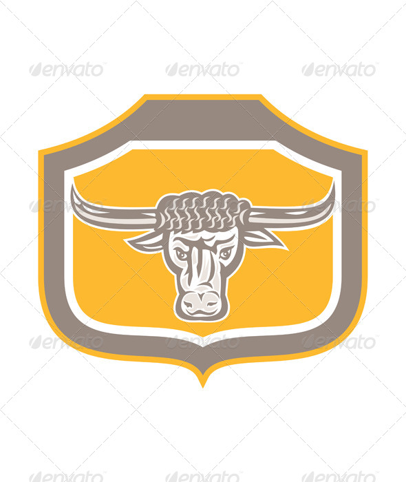 GraphicRiver Bull Head Shield 8319135