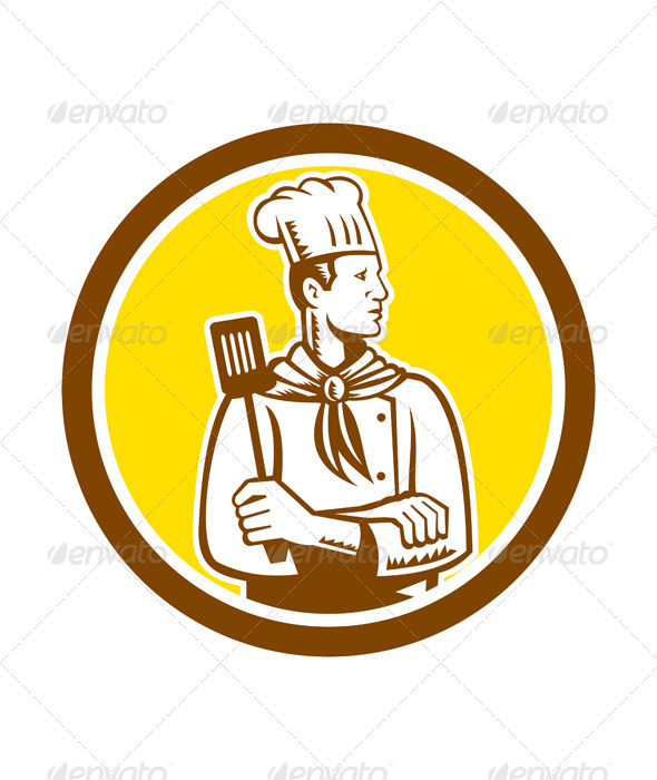 GraphicRiver Chef with Spatula Circle 8319143