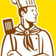 Chef with Spatula Circle - GraphicRiver Item for Sale
