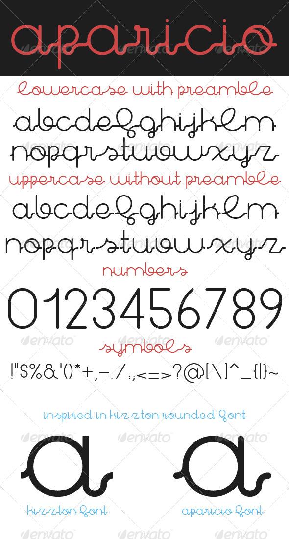 GraphicRiver Aparicio Premium Font 8319144