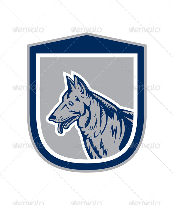 GraphicRiver German Shepherd Shield 8319157