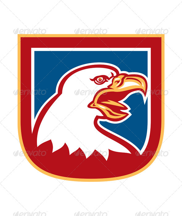 GraphicRiver American Eagle Shield Retro 8319169
