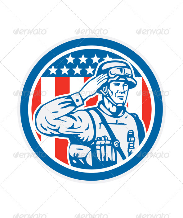 GraphicRiver U.S Military Salute Circle 8319275