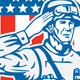 U.S Military Salute Circle - GraphicRiver Item for Sale