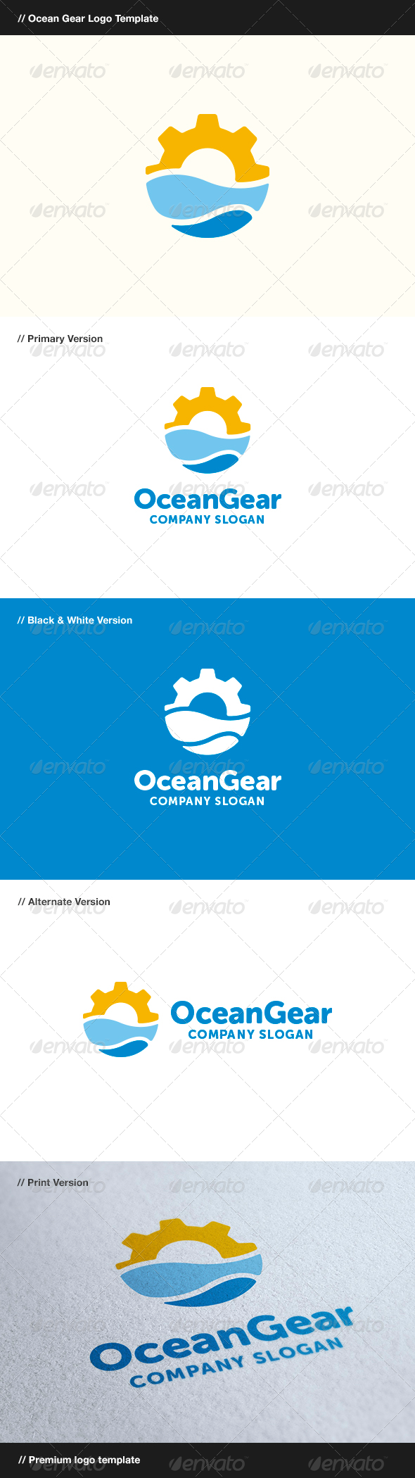 GraphicRiver Ocean Gear 8319379