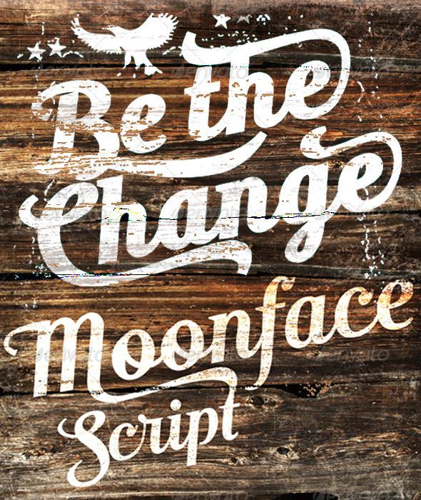 GraphicRiver Moonface Script 8319434