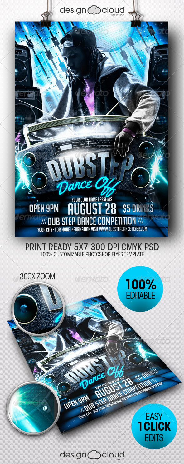 GraphicRiver Dub Step Dance Off Flyer Template 8282019