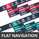 Flat Navigation Bars - GraphicRiver Item for Sale