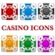 Set of Square Multicolor Casino Chips - GraphicRiver Item for Sale