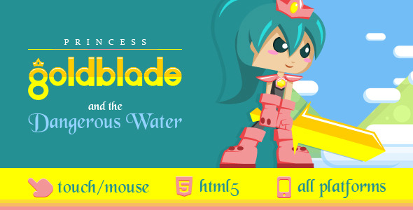 CodeCanyon Princess Goldblade and the Dangerous Waters 8319552