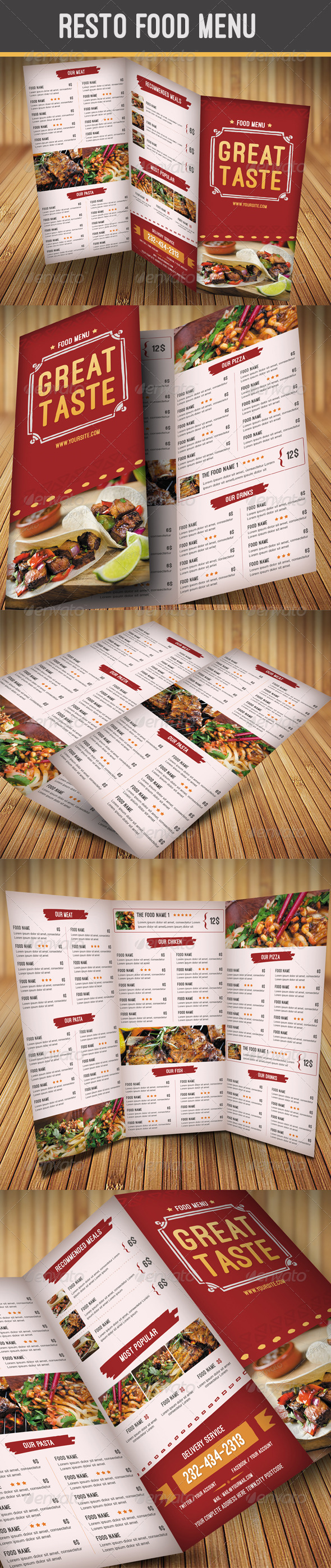 GraphicRiver Resto Food Menu 8319612