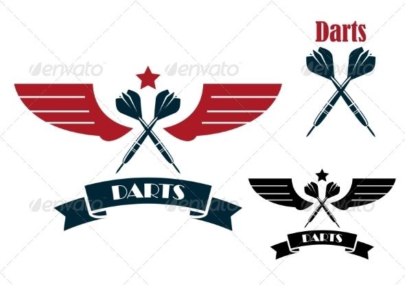 GraphicRiver Dart Emblems and Symbols 8319654