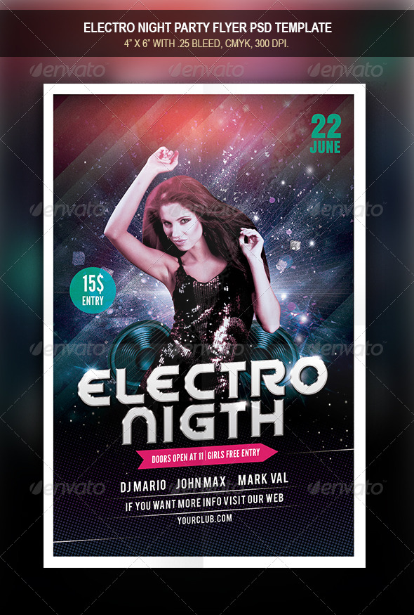 GraphicRiver Electro Night Flyer 8319751