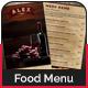 Restaurant / Bar Menu Cards - GraphicRiver Item for Sale