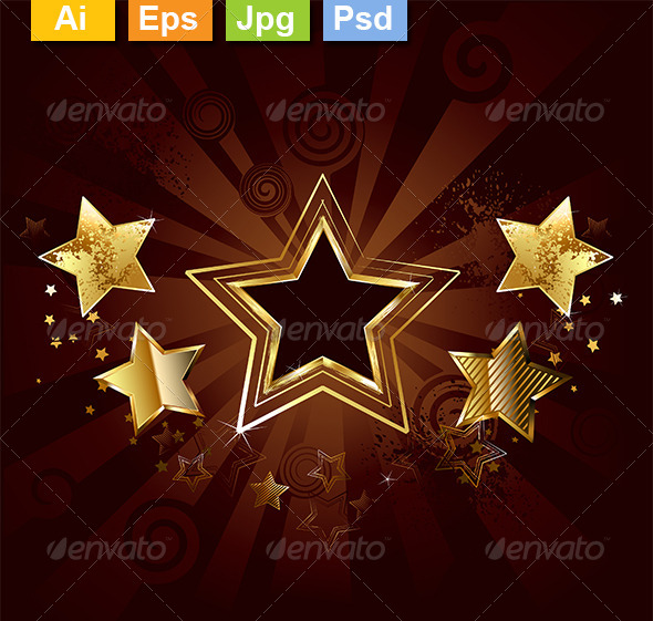 GraphicRiver Star on a Brown Background 8319922