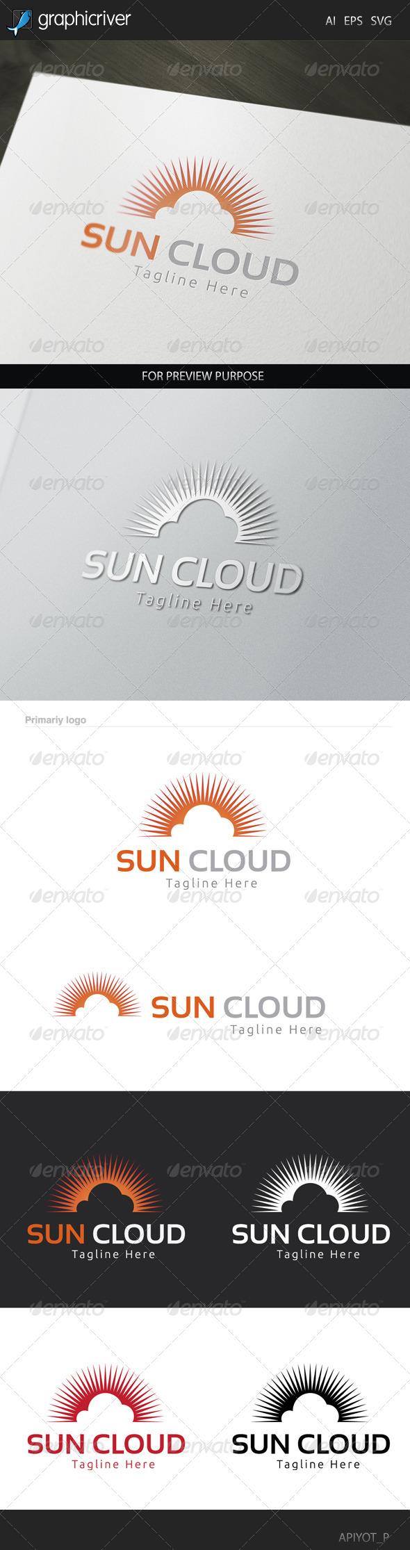 GraphicRiver Sun Cloud Logo 8320026