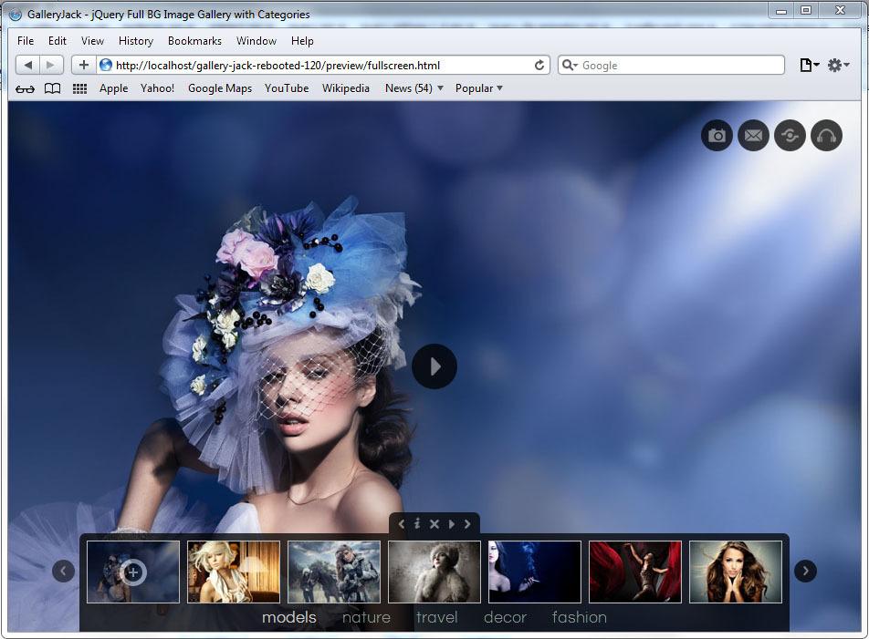 GalleryJack Rebooted - A jQuery Fullscreen Gallery