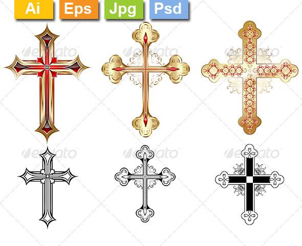 Three Gold Cross