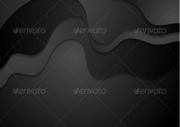 GraphicRiver Dark Abstract Waves Background 8320046