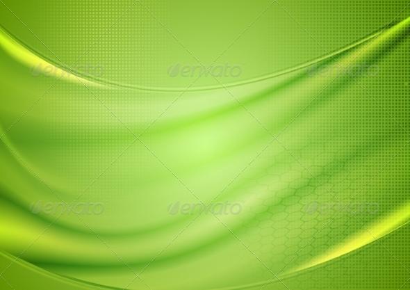 GraphicRiver Bright Blurred Green Waves Design 8320047