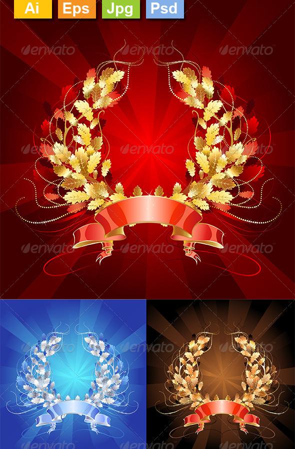 GraphicRiver Oak Wreaths 8320084