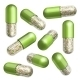 Medical Green Capsules with Granules - GraphicRiver Item for Sale
