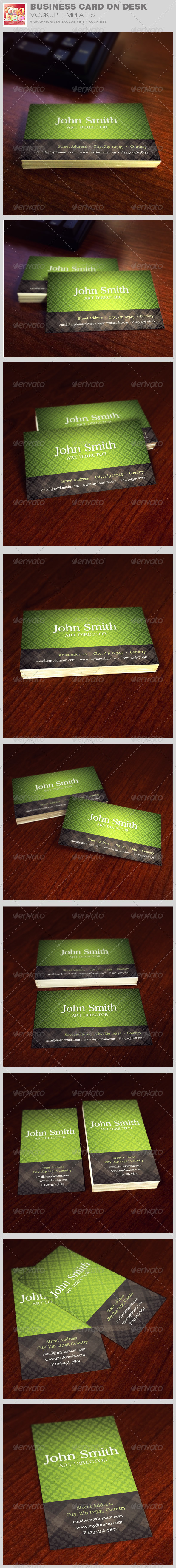 GraphicRiver Business Card on Desk Mockup Templates 8320097