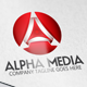 Alpha Media Letter A 3D Logo - GraphicRiver Item for Sale