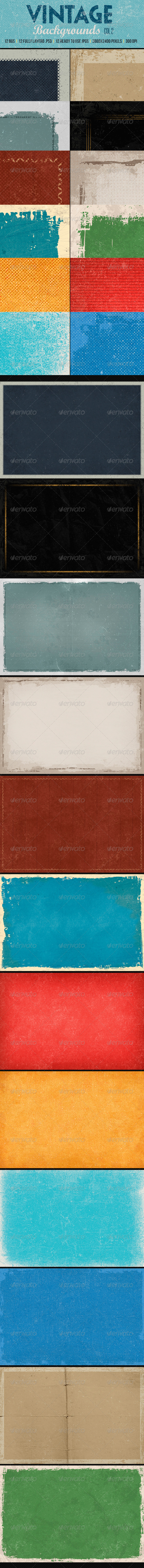 GraphicRiver Vintage Backgrounds col2 8320172